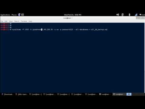 MySQLDump - Download All Databases of a Remote MySQL Server [Kali Linux]