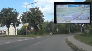 Becker Mamba Teil5: Fahrvideo mit Navi