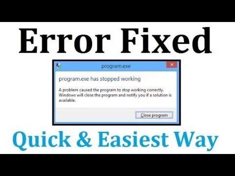 Fix exe has stopped working Windows 7/8/10 windows explorer has