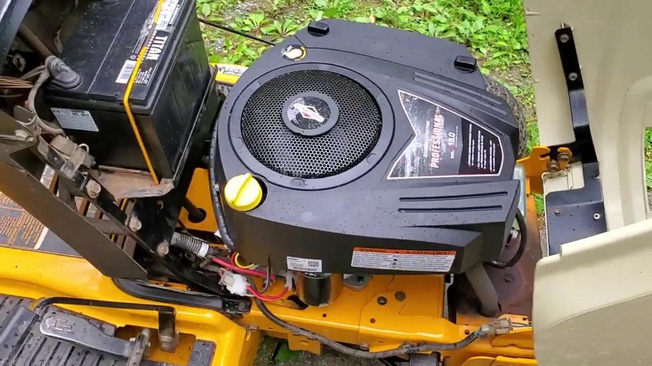 small resolution of  cub cadet lt1018 engine replacement youtube on cub cadet schematics cub cadet mower deck