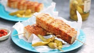 How to make Ham and cheese toastai kebabs   healthy dinner recipes for family