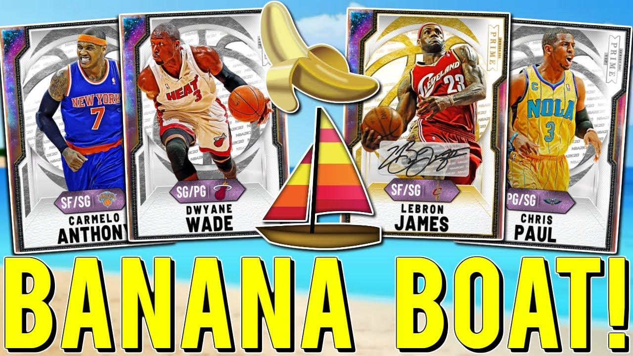 *BANANA BOAT* SQUAD BUILDER GAMEPLAY! GALAXY OPAL LEBRON , D WADE , MELO & CP3! (NBA2K20 MYTEAM)