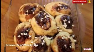 Chocolate Cinnaman Roll | Chocolate Buns Easy And Quick Recipe Delicious Food With Ayesha