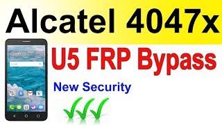 Alcatel 4047X frp bypass | Alcatel U5 4047x frp bypass google account | Alcatel U5 frp bypass