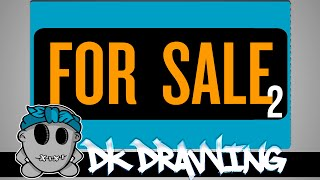Graffiti on canvas for SALE II by DKDrawing