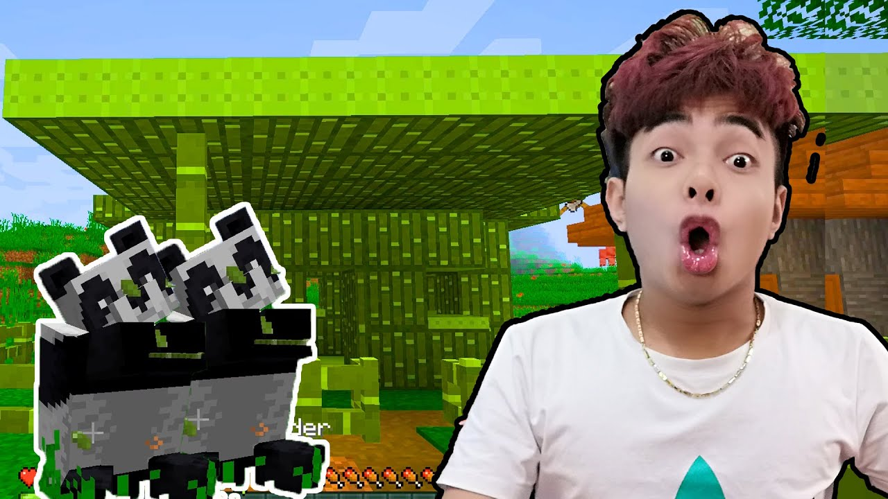 ThắnG Tê Tê Thử Thách Dựng Nhà Bằng Tre Trong Minecraft