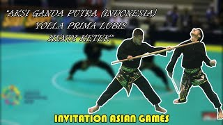 "ARTISTIC GANDA MALE (YOLA and HENDI) ""INDONESIA"" Pencak Silat Invitatian Asian Games 18th aaaDay 5"