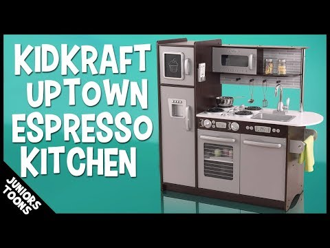 KIDKRAFT UPTOWN ESPRESSO KITCHEN 2019 | Unboxing Assembly & Review |  JUNIORS TOONS