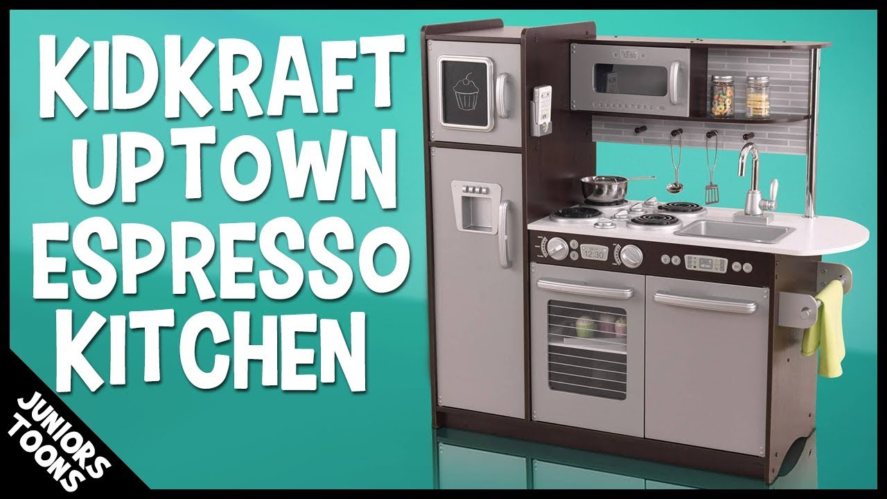 kidkraft uptown espresso kitchen 2018 unboxing assembly review juniors toons - Kidkraft Espresso Kitchen