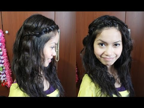 How to: Twisted Bangs & Boho Waves Hairstyle | Hair Tutorial