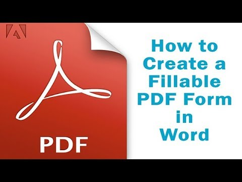 How To Create A Fillable PDF Form In Word