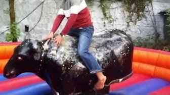 Enjoying the Game of Bull Ride in Mussoorie, Dehradun, Uttarakhand
