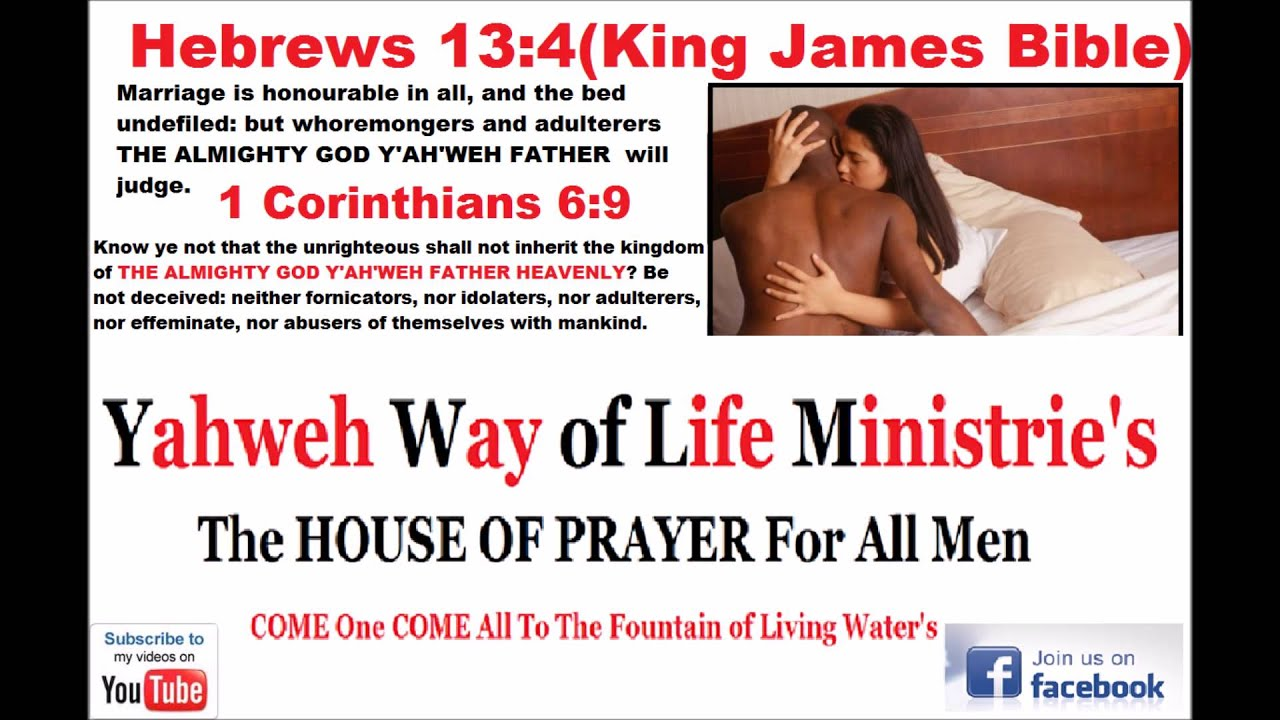 The Book Of Hebrews Chapter 13 Verse 4 King James Bible ...