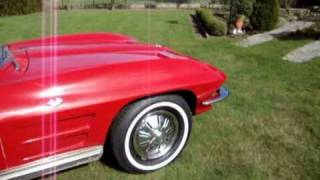 64er Corvette Sting Ray Coupé red on red