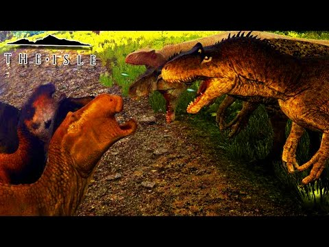 "The Isle - Manada De Herbívoros (Evento) ""Maiassauro"" VS ""Allosaurus"" (#64) (Gameplay/PT-BR)"
