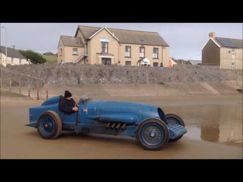 Napier Bluebird Pendine 90th Year Return Run