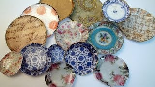 DIY: How To Make Miniature China Plates With Paper