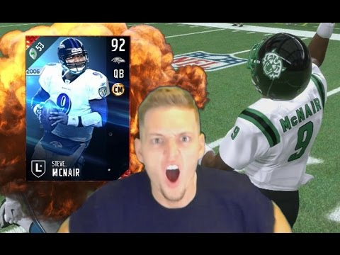 STEVE MCNAIR is a BEAST! MY TEAM STACKED! MADDEN 17
