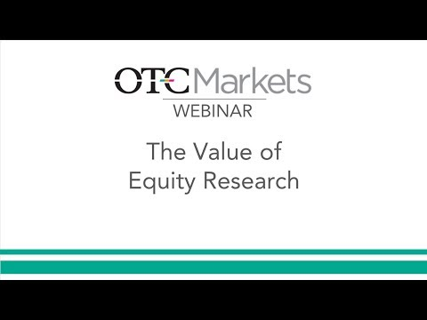 The Value of Equity Research