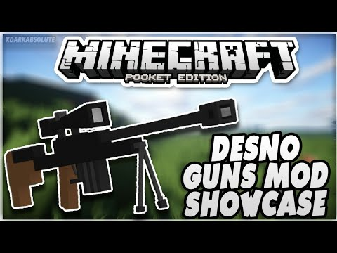 [1.1, 1.1.4, 1.2] Minecraft PE Mod Showcase - DESNO GUNS MOD!