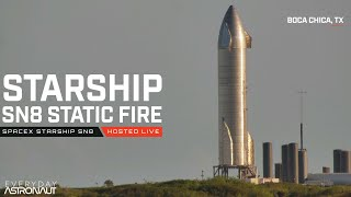 Let's watch Starship SN8 test its engines before launch!