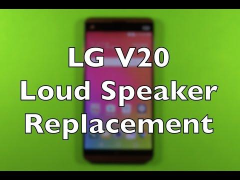 LG V20 Loud Speaker Replacement Repair How To Change