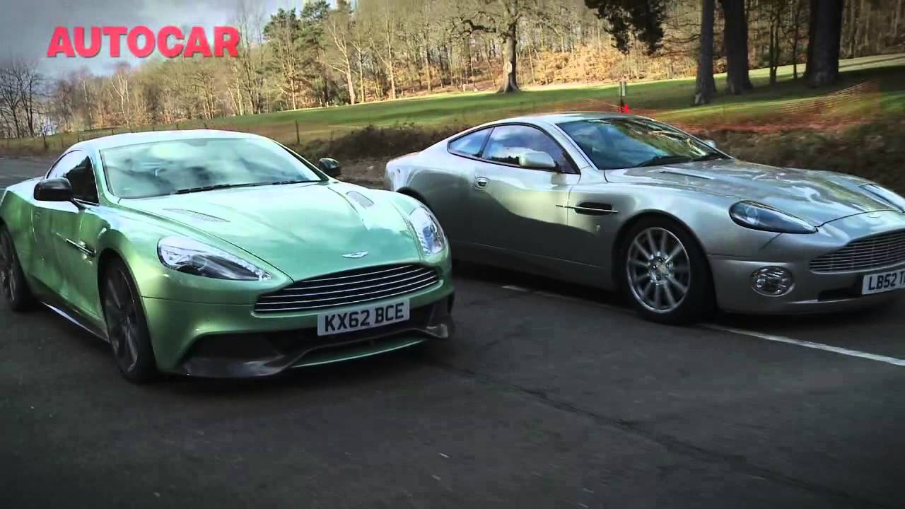 Aston Martin Vanquish Meet The Ancestors Autocarcouk YouTube - Old aston martin vanquish