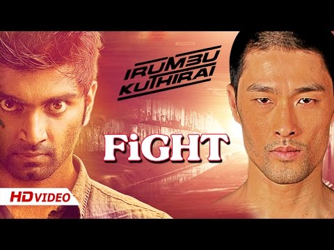 Irumbu Kuthirai Tamil Movie - Johnny Tri Nyugen And Atharva Stunts | Bike Racing