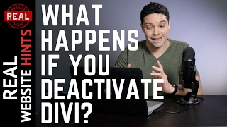 What happens when you deactivate the Divi theme?