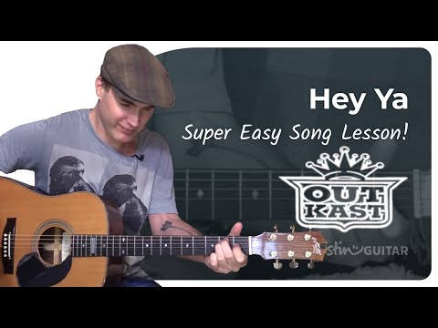 Hey Ya - Outkast - Easy Beginner Song Guitar Lesson (BS-303) How to play