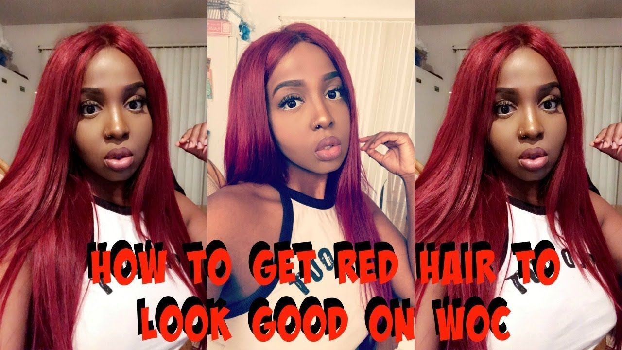 How To Get Bright Red Hair To Look Good On Dark Skin Ft Yiroo Hair