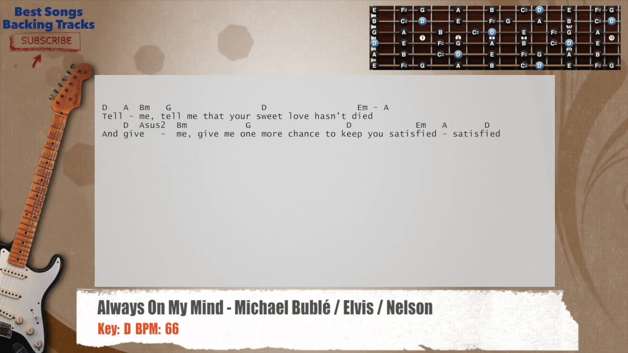 Always On My Mind Michael Bubl Elvis Nelson Guitar Backing
