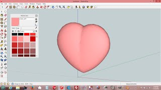 How To Draw Heart Shape In SketchUp v2   ( 3D Printable )
