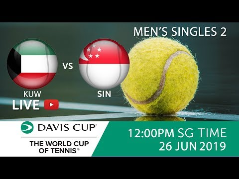 Kuwait 🇰🇼 vs 🇸🇬 Singapore Singles Match 2   Davis Cup Asia Oceania Group III