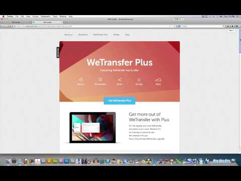 How To Create A We Transfer Plus Account