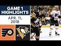 NHL Highlights   Flyers vs. Penguins, Game 1 - Apr. 11, 2018