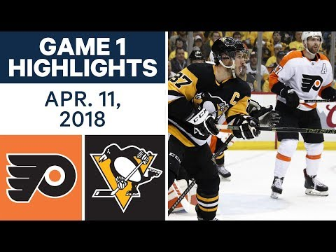 NHL Highlights | Flyers vs. Penguins, Game 1 - Apr. 11, 2018