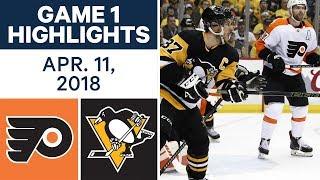 NHL Highlights | Flyers vs. Penguins, Game 1 - Apr. 11, 2018
