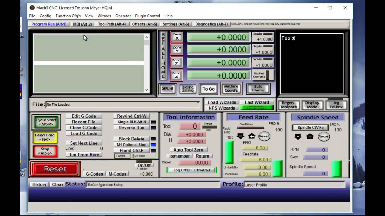0002 Mach 3 Laser Profile Setup for JTech Laser and VCarve Pro