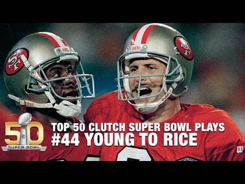 #44: Steve Young's 44-yard TD To Jerry Rice On Opening Drive | Top 50 Clutch Super Bowl Plays