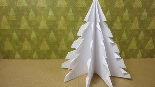 How to Make a 3D Paper Xmas Tree (DIY Tu...