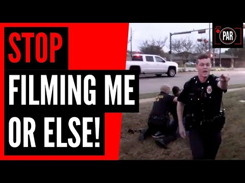 Cops told him the First Amendment doesn't apply, then they arrested him to prove it.