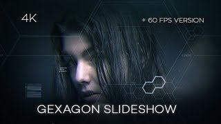 After Effects Template 2018 - Gexagon Slideshow Hi-Tech Template By After Effects cc 2018