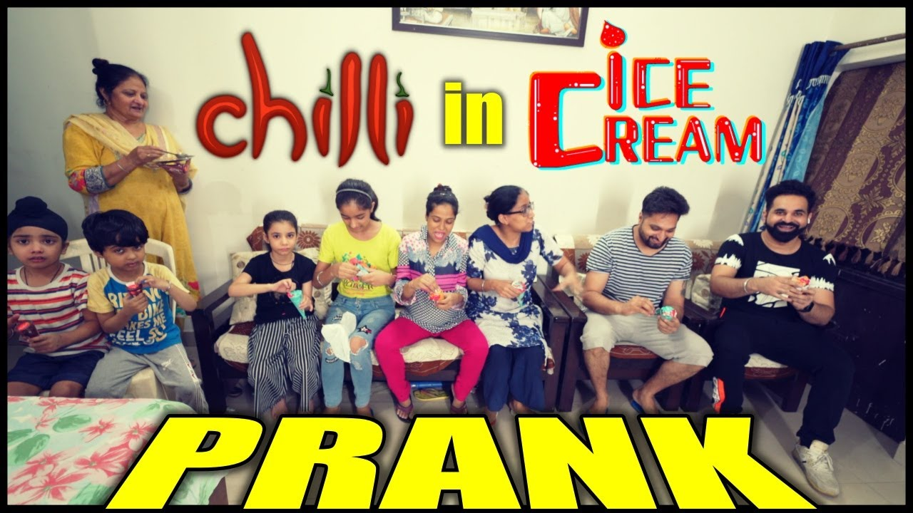 Chilli in IceCream Prank on Whole Family 🤪 | Harpreet SDC