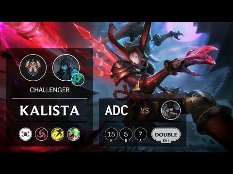 Kalista ADC vs Caitlyn - KR Challenger Patch 9.24