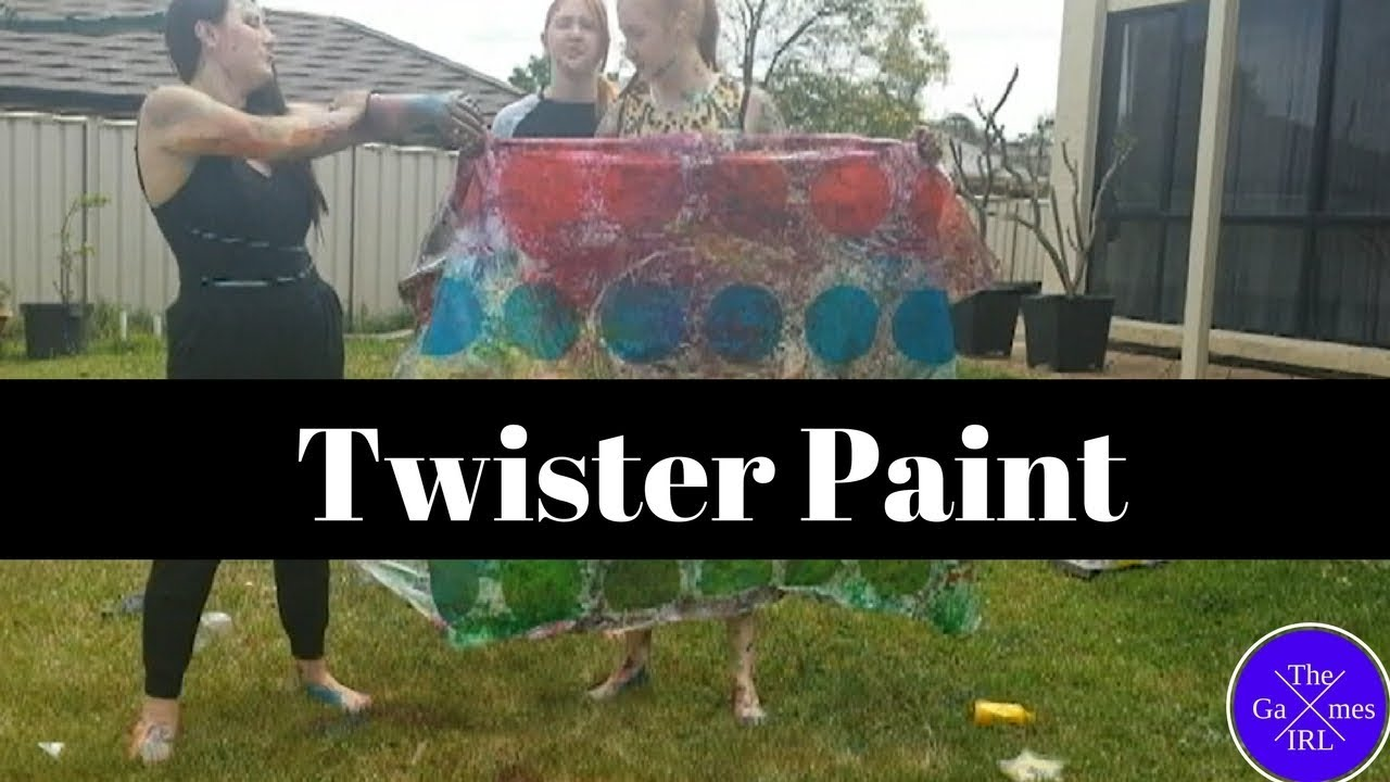 paint twister the games irl youtube