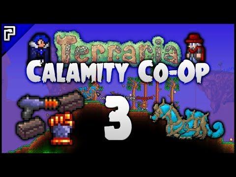 ⭐️ Cnidrion Mini Boss! Scummy Scourge! | Terraria Calamity Mod Co-Op Playthrough [#3]