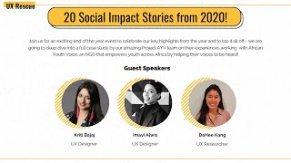 20 Social Impact Stories from 2020, UX Rescue End of Year Wrap-Up!
