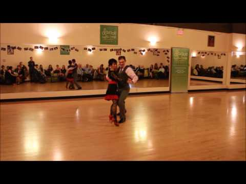 Dance with me Toronto | student Amelia performing 1st time - Argentine Tango, party May 2016