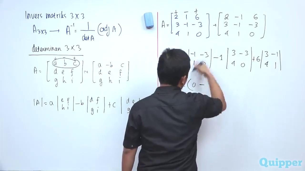 Quipper Video Matematika Matriks Invers Youtube
